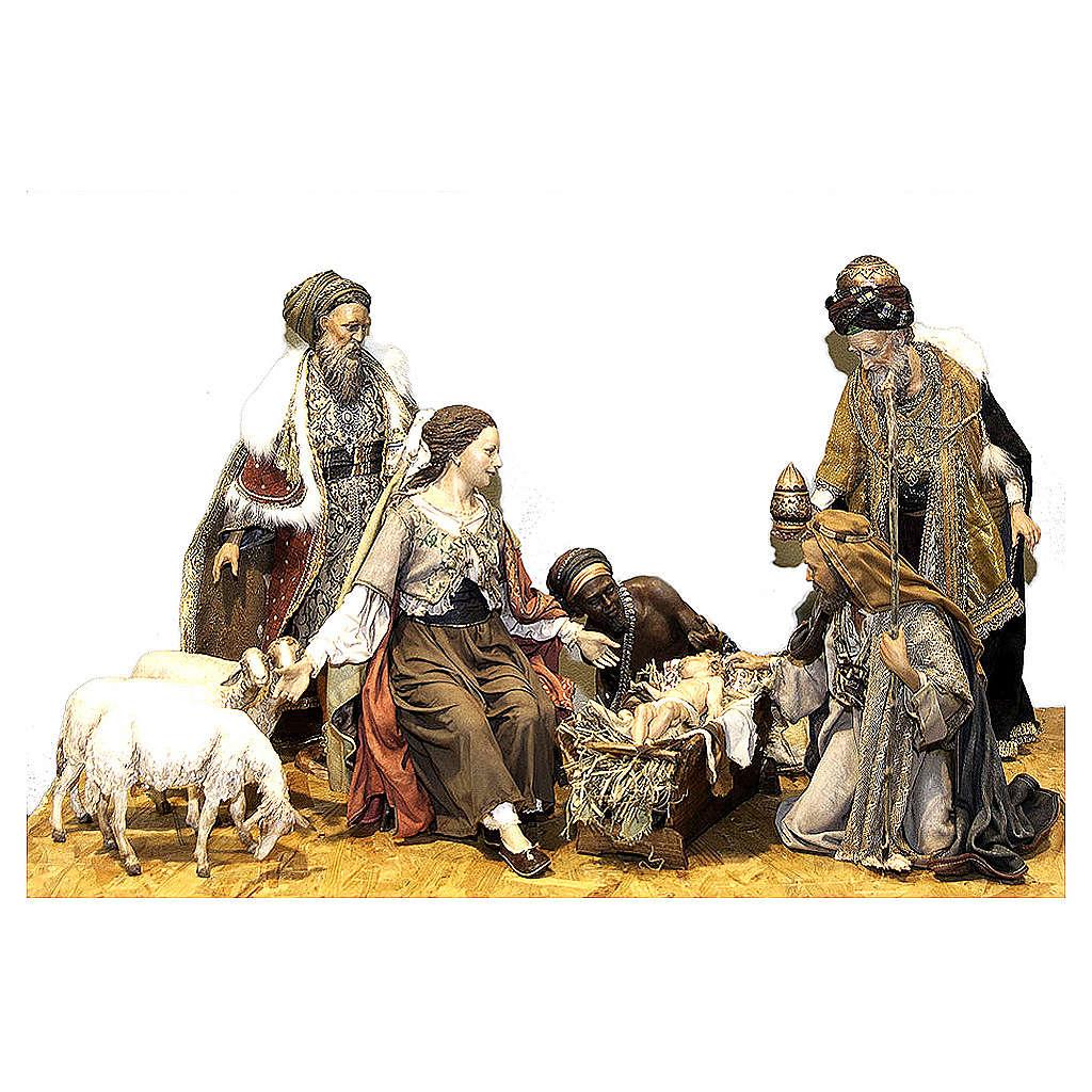 Natività Magi tre pecore 50 cm Angela Tripi 4