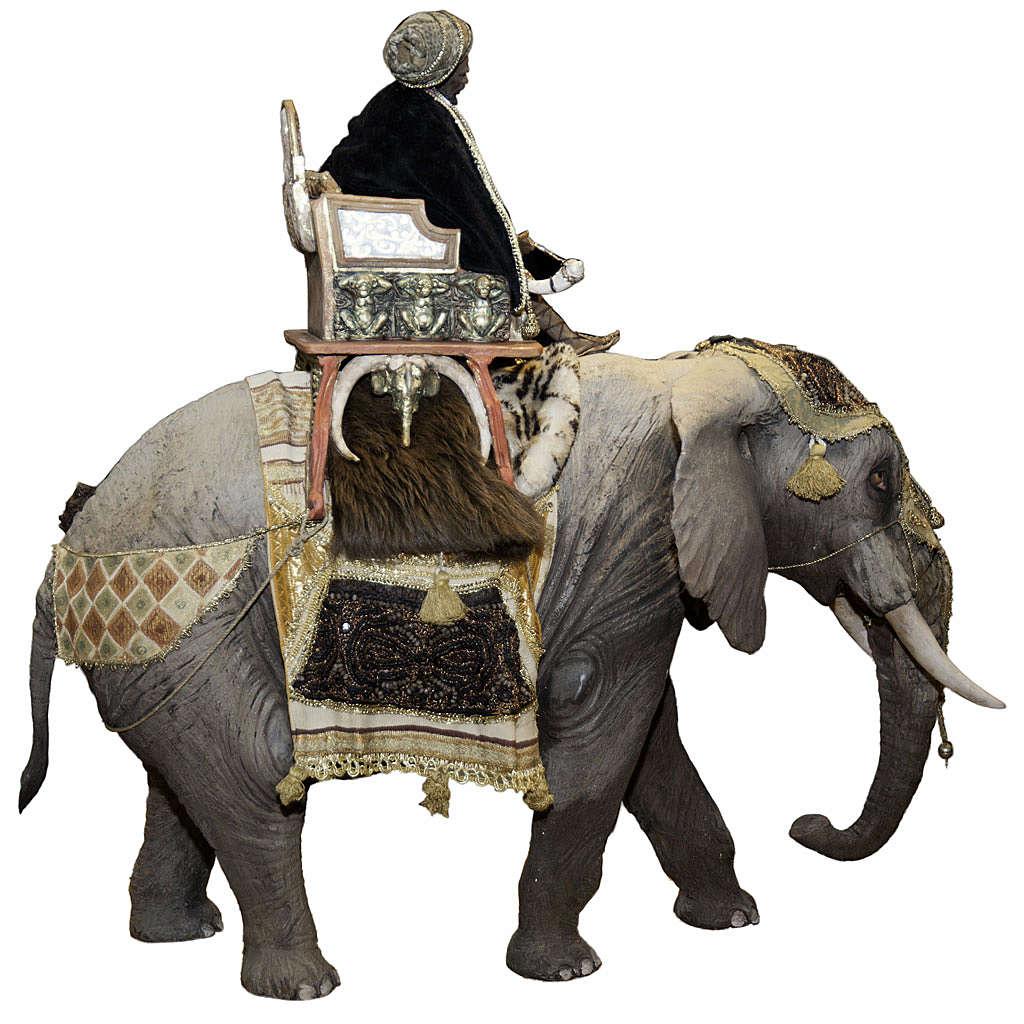 Roi Mage sur éléphant 30 cm Angela Tripi 4