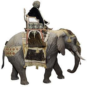 Roi Mage sur éléphant 30 cm Angela Tripi s4