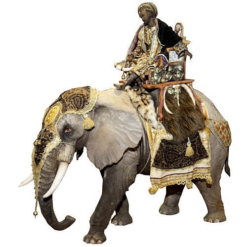 Roi Mage sur éléphant 30 cm Angela Tripi 1