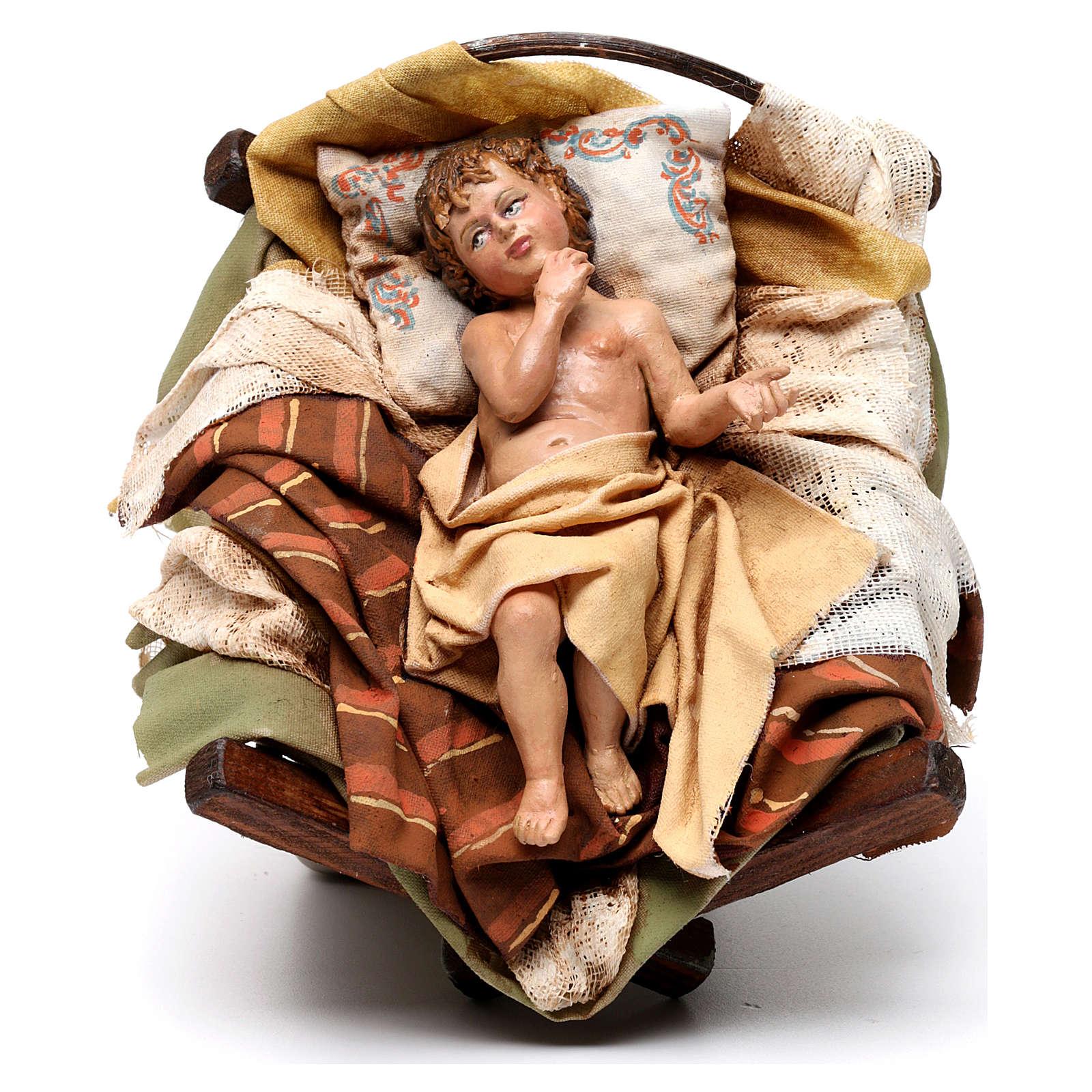 Nacimiento con Buey Belén 30 cm Angela Tripi 4