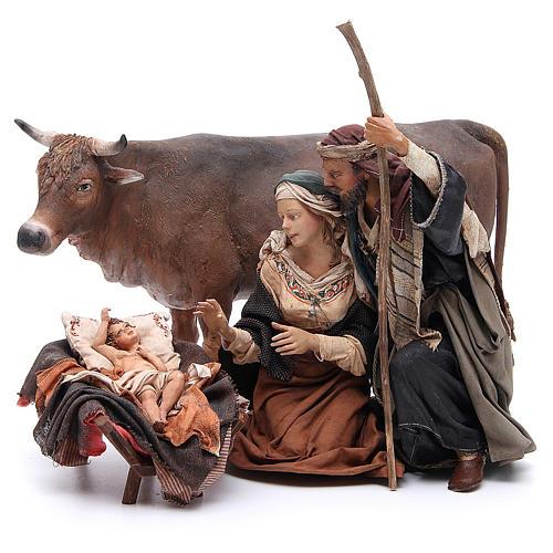 Natività con bue 30 cm Angela Tripi 1