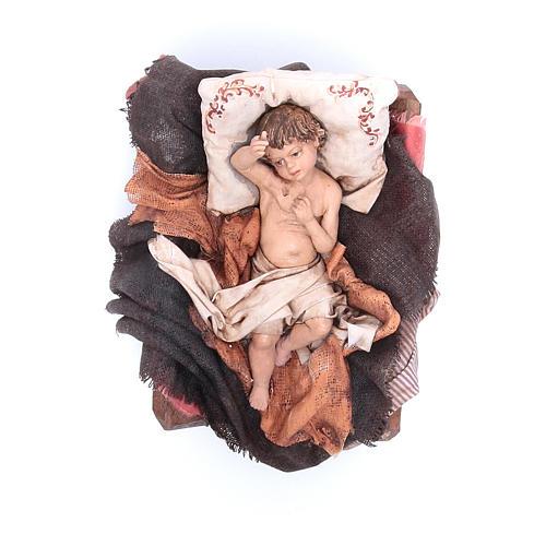 Natività con bue 30 cm Angela Tripi 6