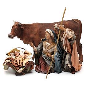 Nativity with ox, 30cm by Angela Tripi s1