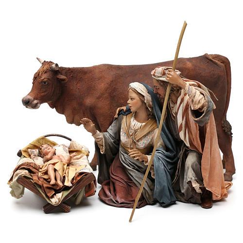 Nativity with ox, 30cm by Angela Tripi 1