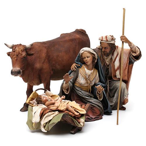 Nativity with ox, 30cm by Angela Tripi 3