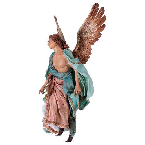 Angel of Glory, 30cm made of Terracotta by Angela Tripi 4