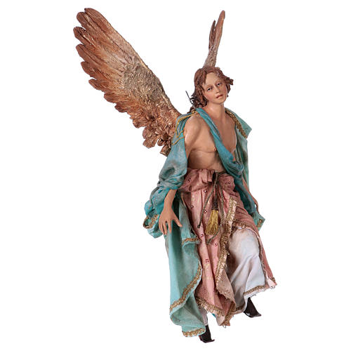 Angel of Glory, 30cm made of Terracotta by Angela Tripi 5
