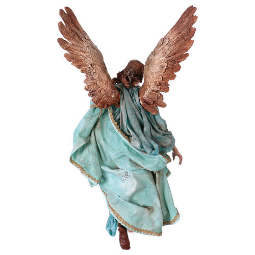 Angel of Glory, 30cm made of Terracotta by Angela Tripi 6