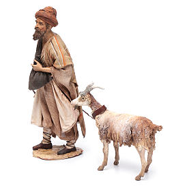 Pastore con capra 30 cm Angela Tripi s2