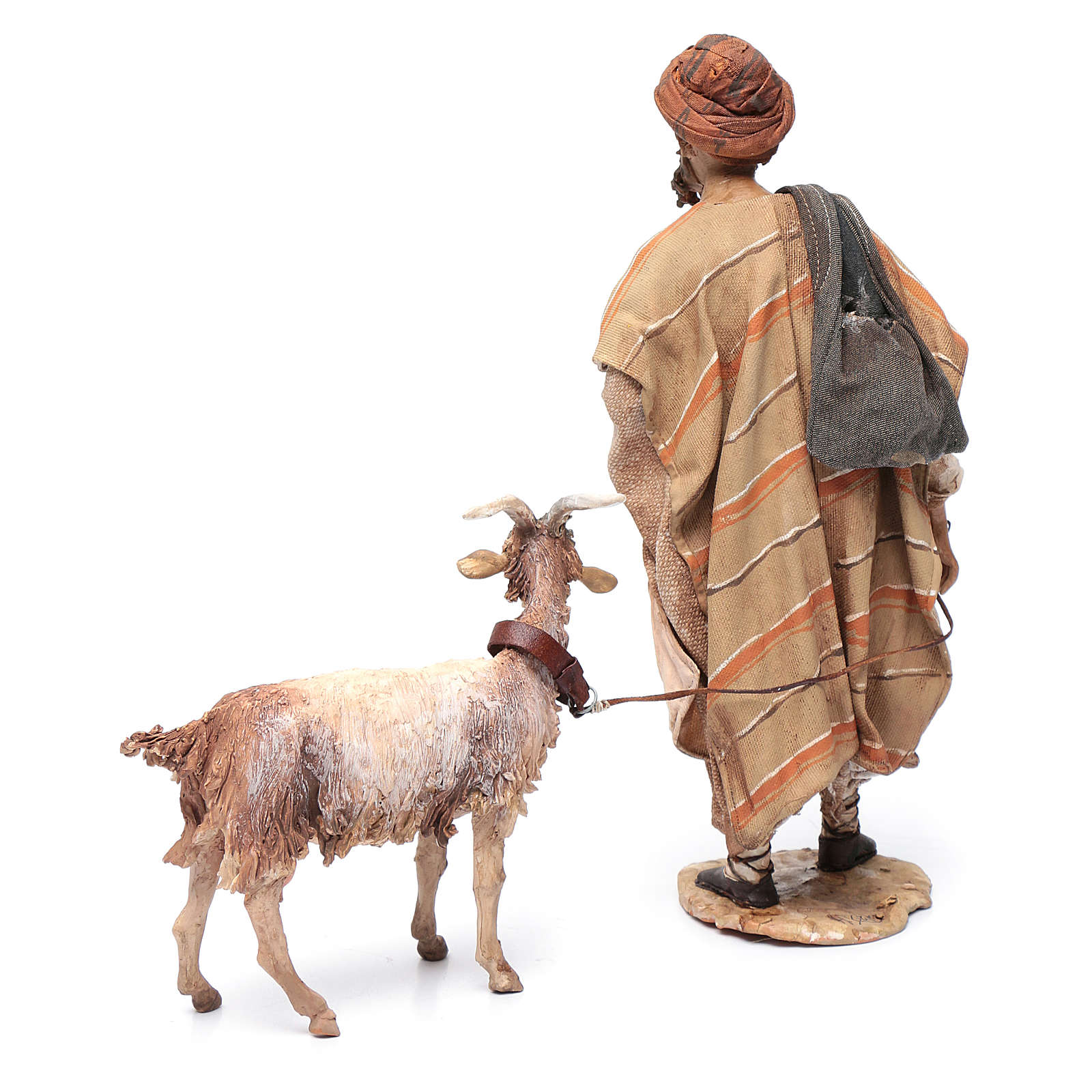 Shepherd with goat, 30cm made of Terracotta by Angela Tripi 4