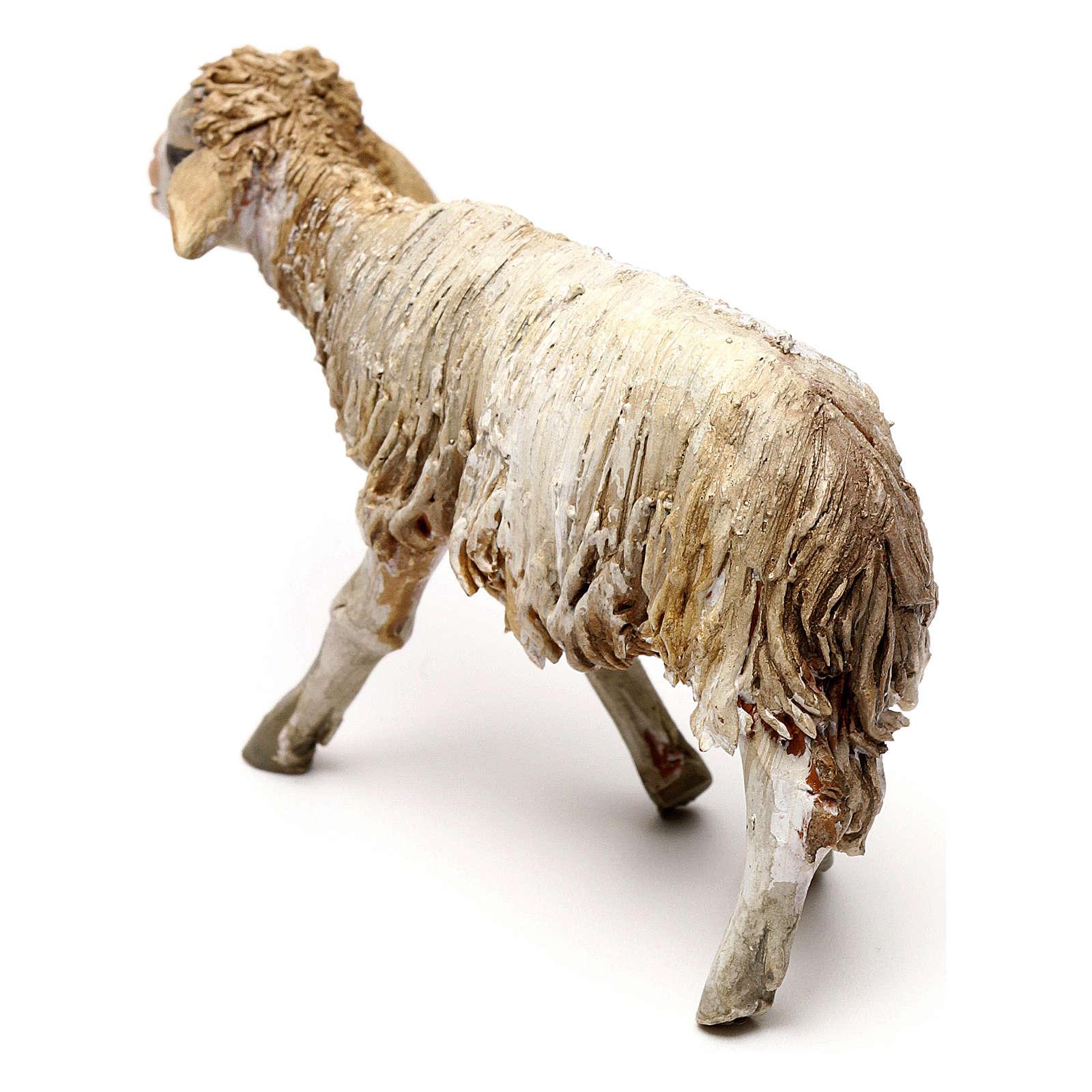 Mouton debout 13cm crèche terre cuite Angela Tripi 4
