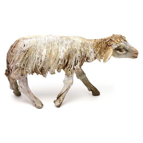 Mouton debout 13cm crèche terre cuite Angela Tripi 1
