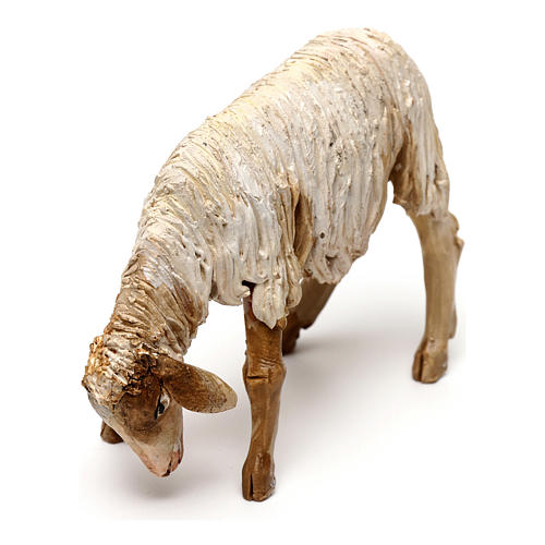 Sheep with lowered head in terracotta 13cm Angela Tripi 2