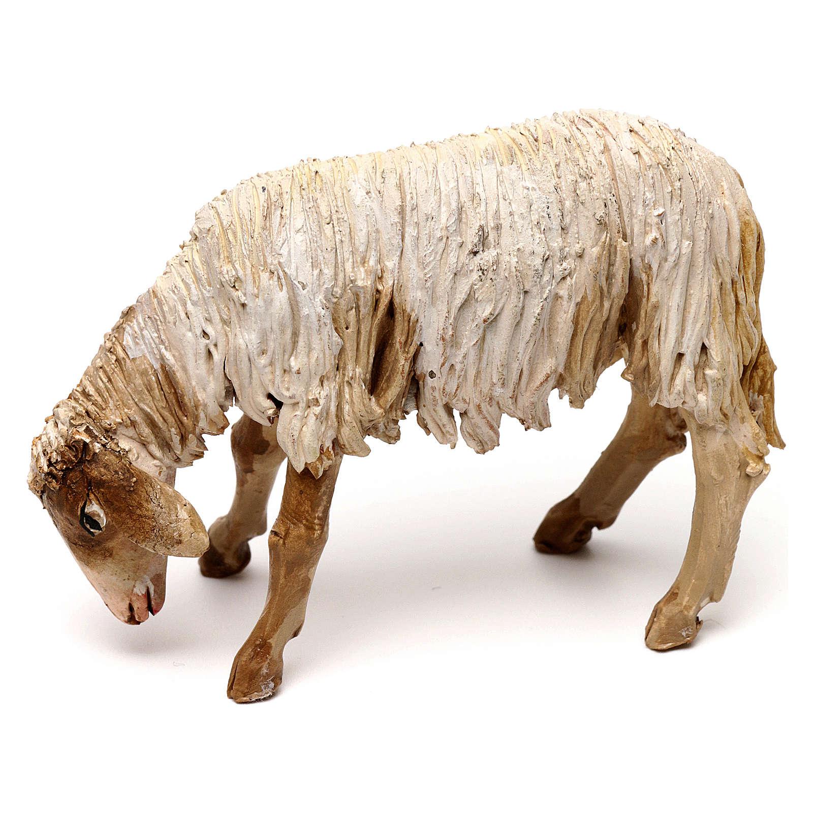 Mouton broutant 13cm crèche terre cuite Angela Tripi 4