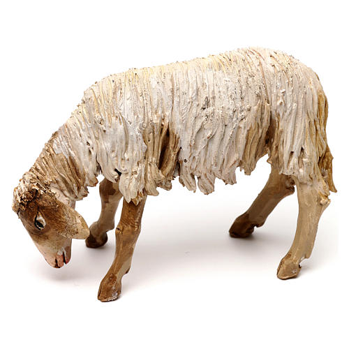 Mouton broutant 13cm crèche terre cuite Angela Tripi 1