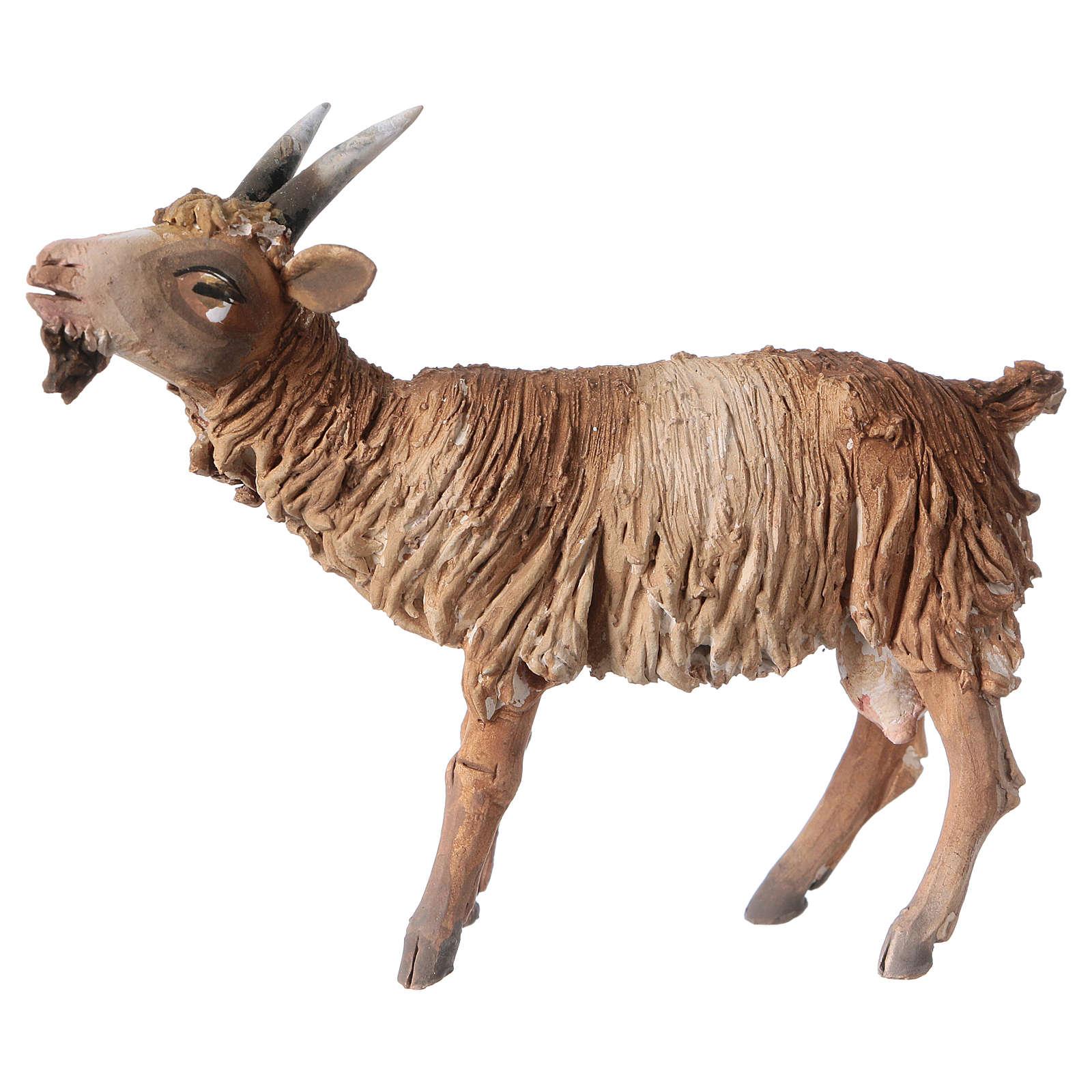 Cabra con cabeza baja Belén 13 cm Angela Tripi terracota 4
