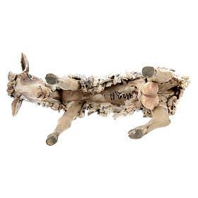 Chèvre broutant 13cm crèche terre cuite Angela Tripi s6