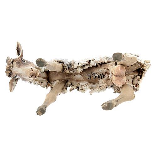 Chèvre broutant 13cm crèche terre cuite Angela Tripi 6