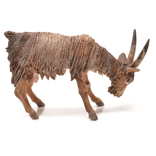 Goat with lowered head in terracotta 13cm Angela Tripi 2