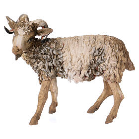 Chèvre debout 13cm crèche terre cuite Angela Tripi s1