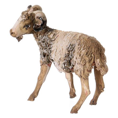 Chèvre debout 13cm crèche terre cuite Angela Tripi 2