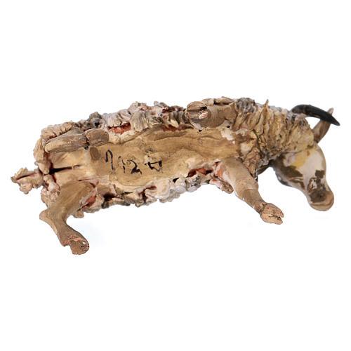 Chèvre debout 13cm crèche terre cuite Angela Tripi 4