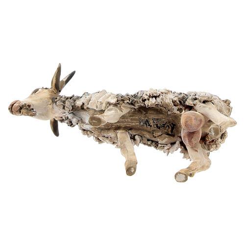 Chèvre debout 13cm crèche terre cuite Angela Tripi 5