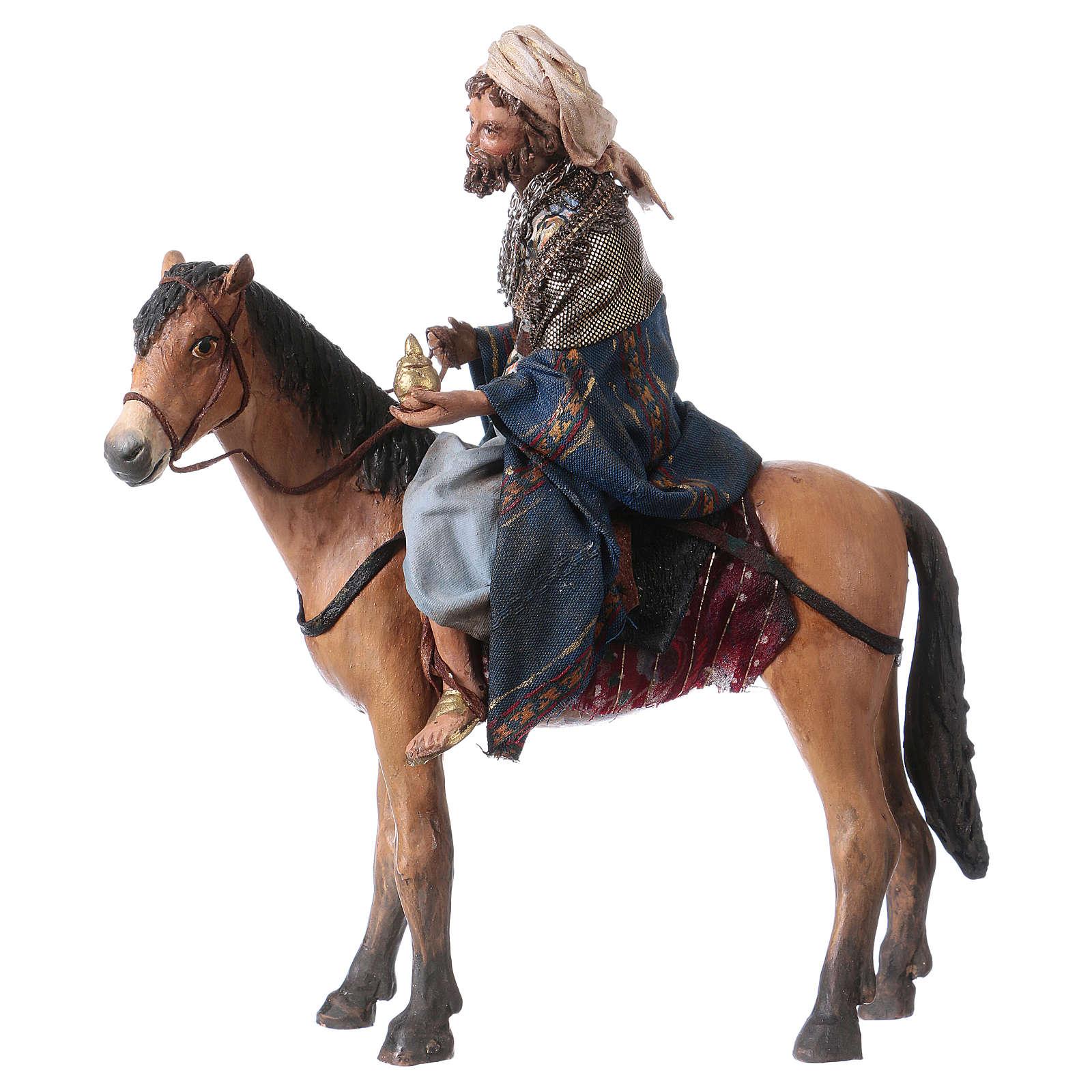 Roi Mage mulâtre sur cheval 13cm Angela Tripi 4