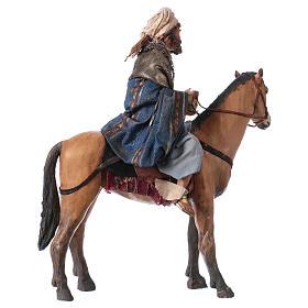 Roi Mage mulâtre sur cheval 13cm Angela Tripi s5