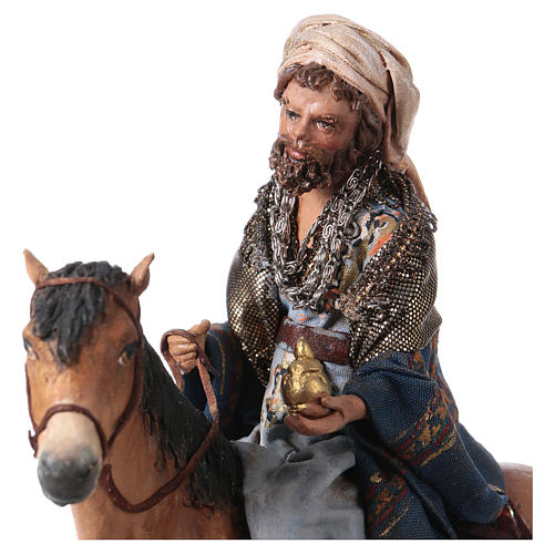 Roi Mage mulâtre sur cheval 13cm Angela Tripi 2
