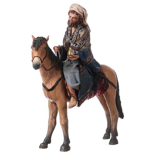 Roi Mage mulâtre sur cheval 13cm Angela Tripi 3