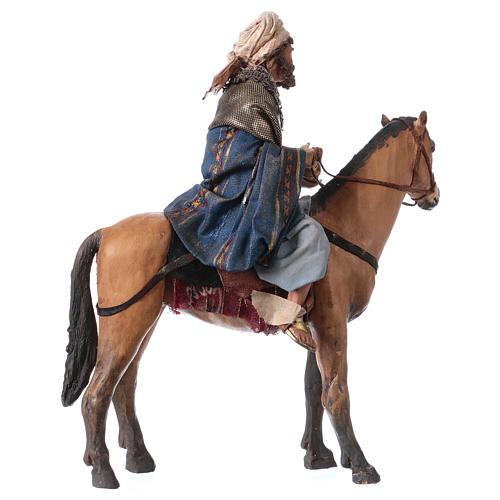 Roi Mage mulâtre sur cheval 13cm Angela Tripi 5