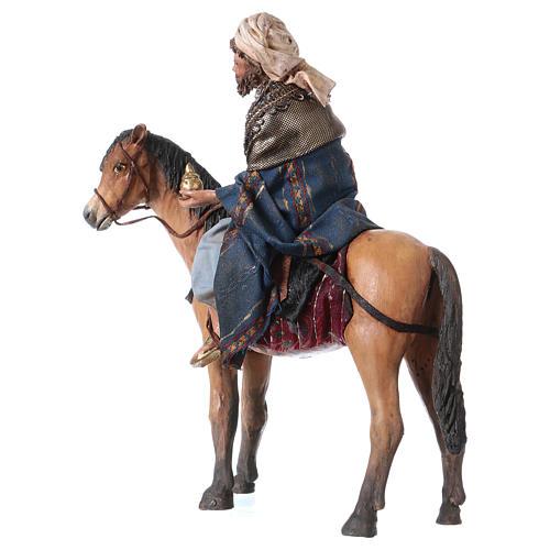 Roi Mage mulâtre sur cheval 13cm Angela Tripi 6