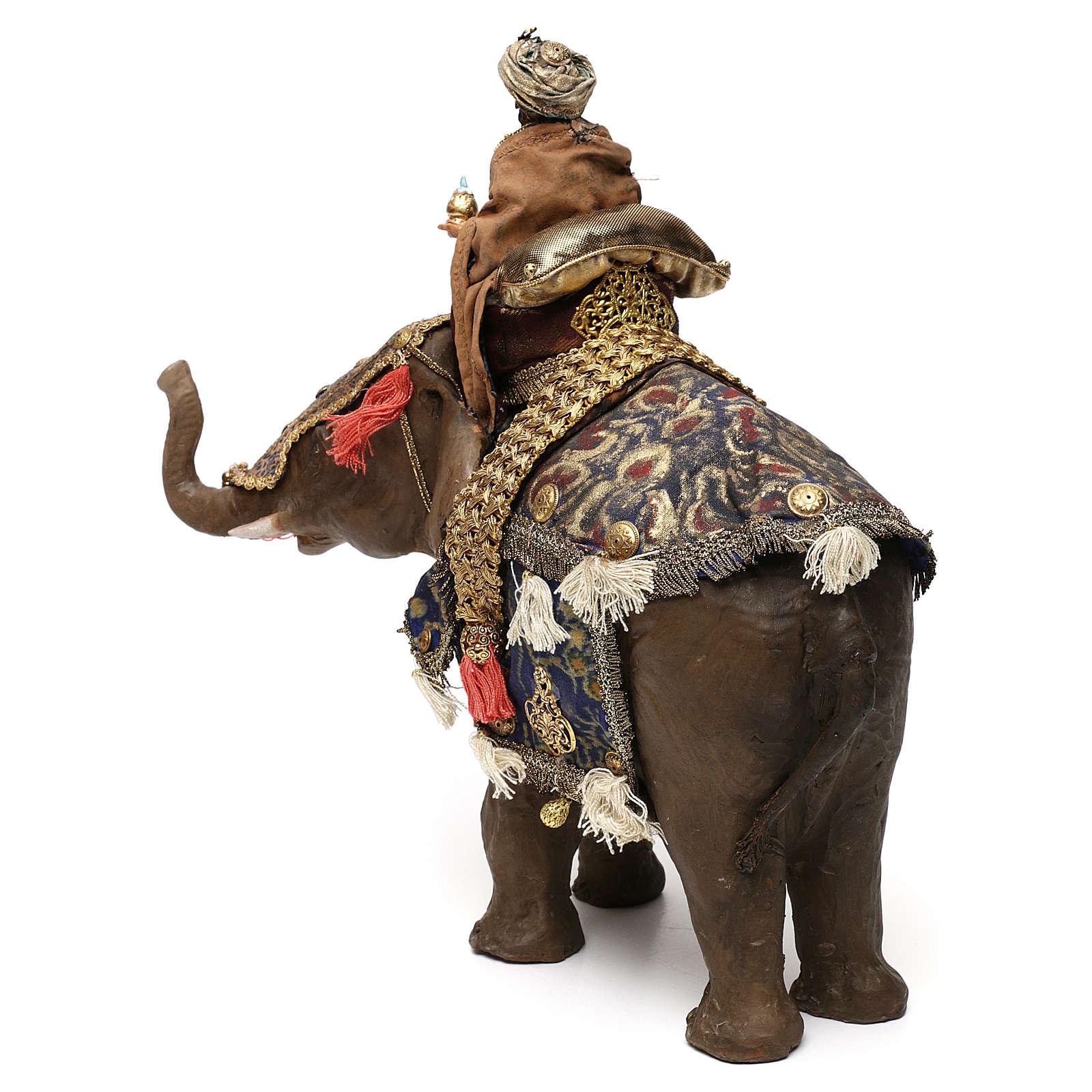Re magio mulatto su elefante 13 cm Angela Tripi 4