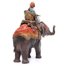 Re magio nero su elefante 13 cm Angela Tripi s4