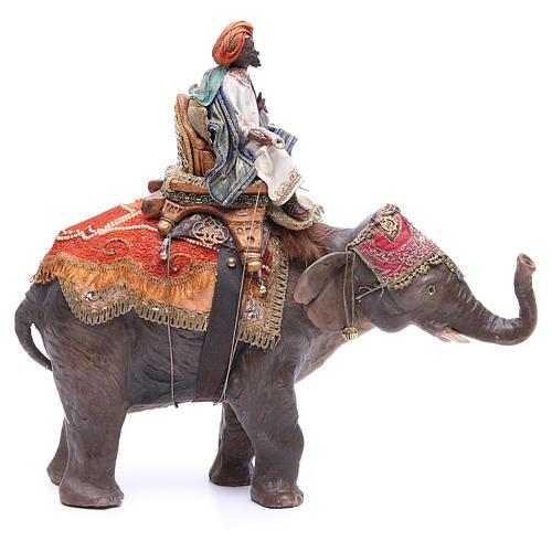 Re magio nero su elefante 13 cm Angela Tripi 1