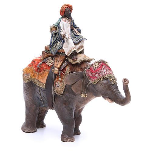 Re magio nero su elefante 13 cm Angela Tripi 2