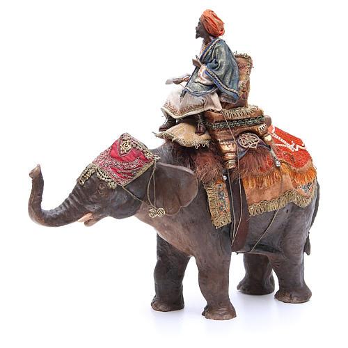 Re magio nero su elefante 13 cm Angela Tripi 3