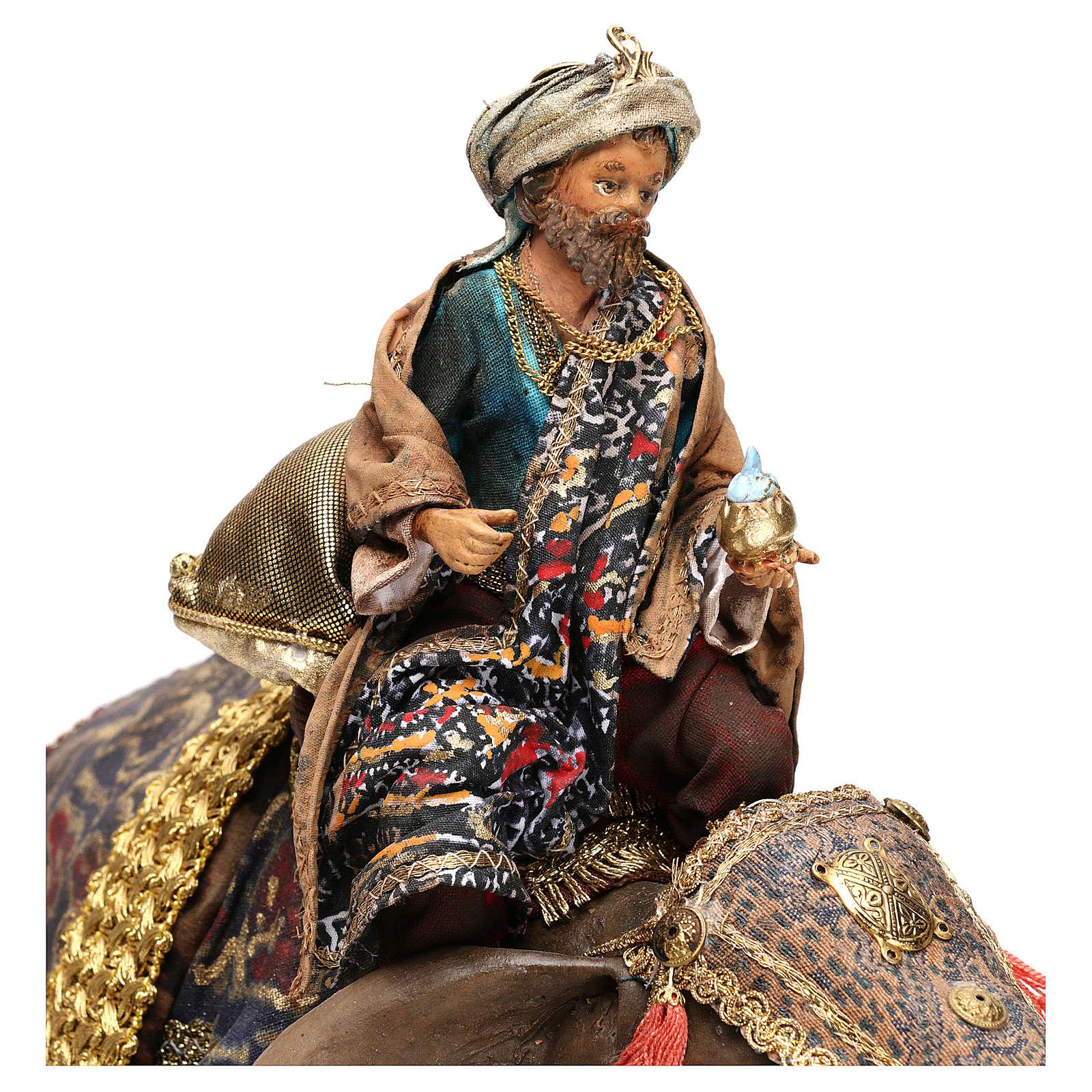 Rei Mago negro no elefante 13 cm Angela Tripi 4