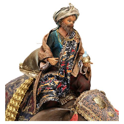 Rei Mago negro no elefante 13 cm Angela Tripi 2