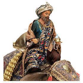 Black Wise Man on elephant, 13cm by Angela Tripi s2