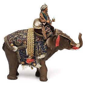 Black Wise Man on elephant, 13cm by Angela Tripi s4