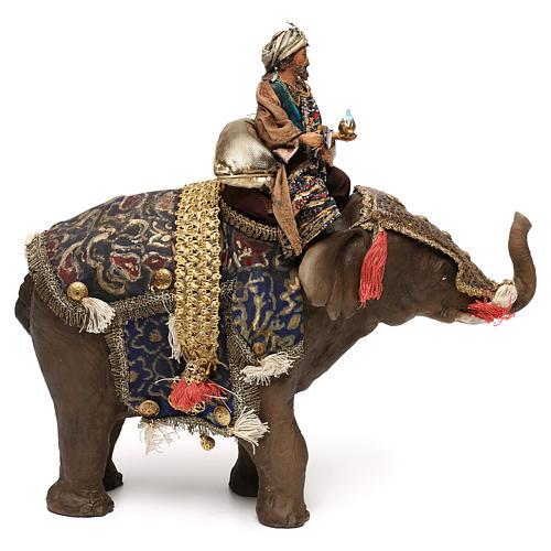 Black Wise Man on elephant, 13cm by Angela Tripi 4