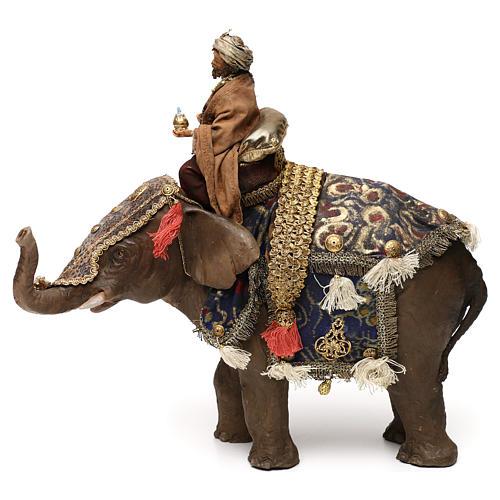 Black Wise Man on elephant, 13cm by Angela Tripi 5