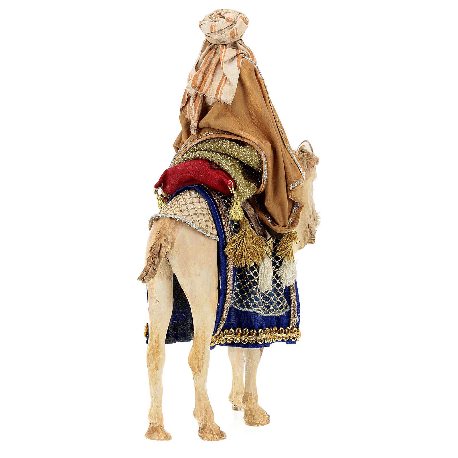 Weißer König auf Trompeltier 13cm Angela Tripi 4