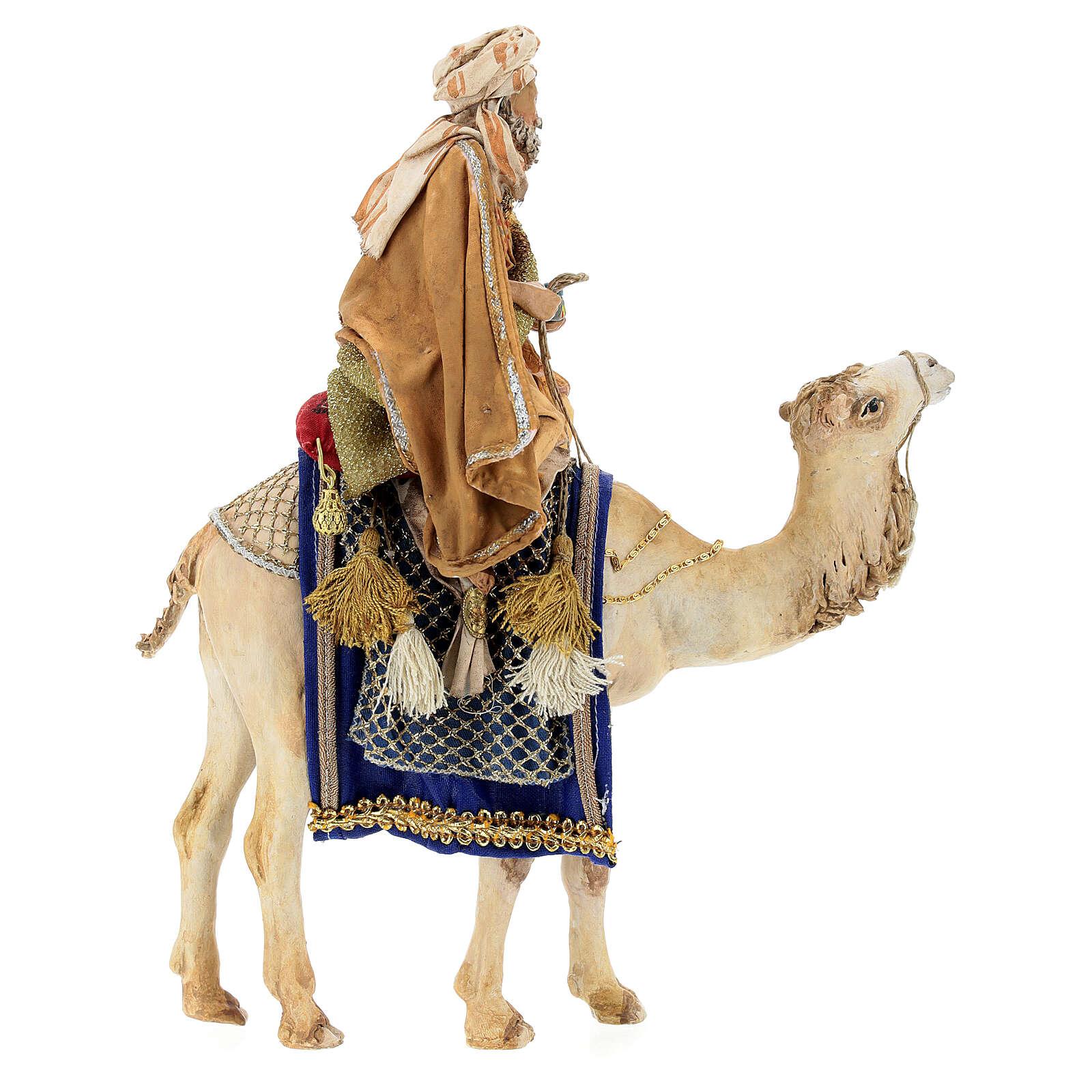 White Wise Man on camel, 13cm by Angela Tripi 4