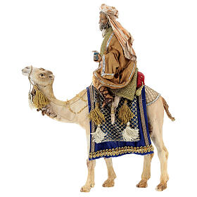 White Wise Man on camel, 13cm by Angela Tripi s1