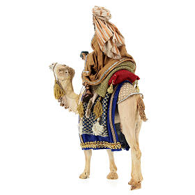 White Wise Man on camel, 13cm by Angela Tripi s5