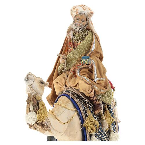 White Wise Man on camel, 13cm by Angela Tripi 2